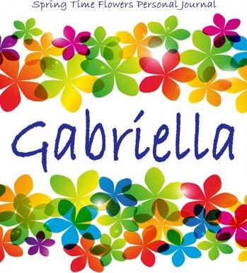 Spring Time Flowers Personal Journal - Gabriella