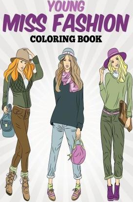 Young Miss Fashion Coloring Book