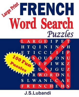 Large Print French Word Search Puzzles