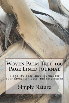 Woven Palm Tree 100 Page Lined Journal