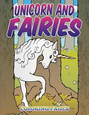 Unicorn and Fairies Coloring Pages