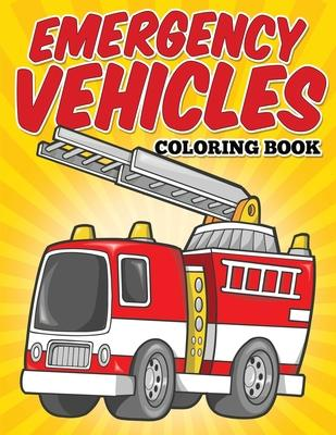 Emergency Vehicles Coloring Book