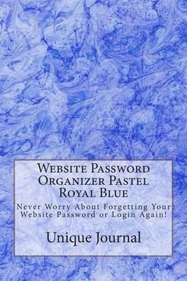 Website Password Organizer Pastel Royal Blue