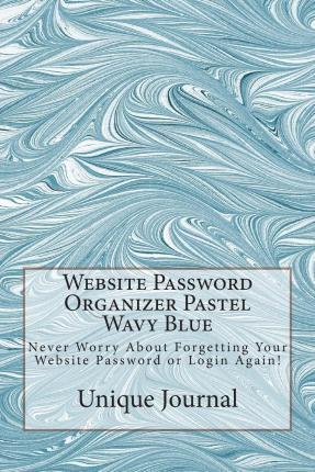 Website Password Organizer Pastel Wavy Blue