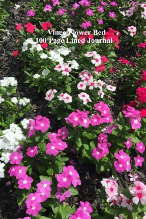 Vinca Flower Bed 100 Page Lined Journal