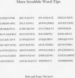 More Scrabble Word Tips