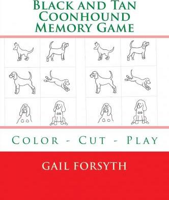Black and Tan Coonhound Memory Game