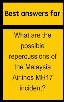 Best Answers for What Are the Possible Repercussions of the Malaysia Airlines Mh17 Incident?