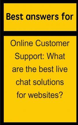 Best Answers for Online Customer Support