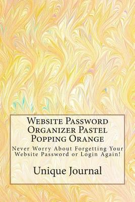 Website Password Organizer Pastel Popping Orange