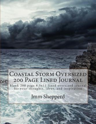 Coastal Storm Oversized 200 Page Lined Journal