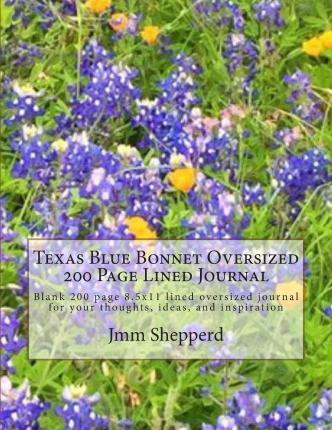 Texas Blue Bonnet Oversized 200 Page Lined Journal