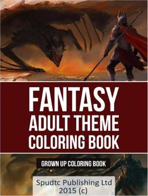 Fantasy Adult Theme Coloring Book
