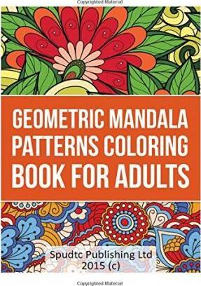 Geometric Mandala Patterns Coloring Book for Adults