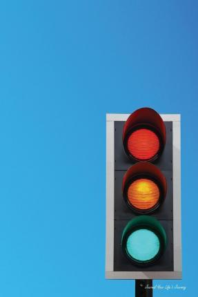 Journal Your Life's Journey: Traffic Lights, Lined Journal, 6 X 9, 100 Pages