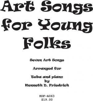Art Songs for Young Folks - Tuba and Piano