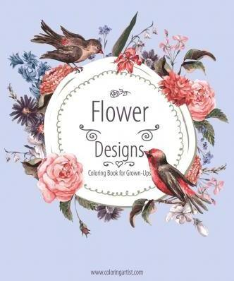 Flower Designs Coloring Book for Grown-Ups 1
