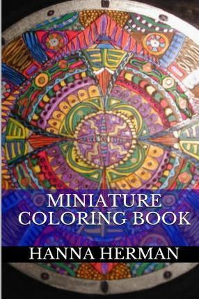 Miniature Coloring Book  Art Therapy Adult Coloring Book