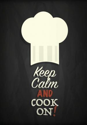 Keep Calm and Cook on  Blank Recipe Book for Your 209 Favorite Recipes