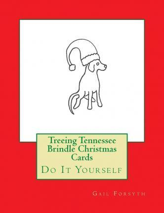 Treeing Tennessee Brindle Christmas Cards  Do It Yourself