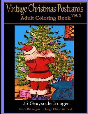 Vintage Christmas Postcards Vol. 2 Adult Coloring Book