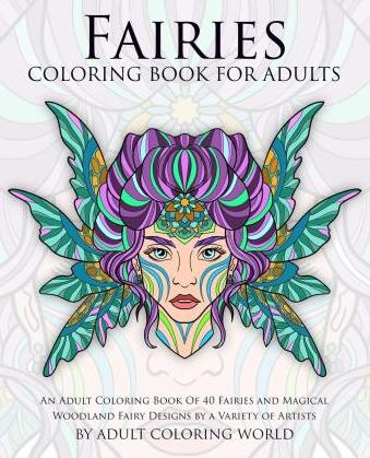 fairies coloring book for adults - Fairies Coloring Book
