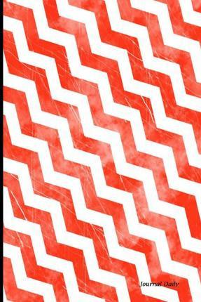 Journal Daily  Red Chevron, Lined Blank Journal Book, 6 X 9, 200 Pages
