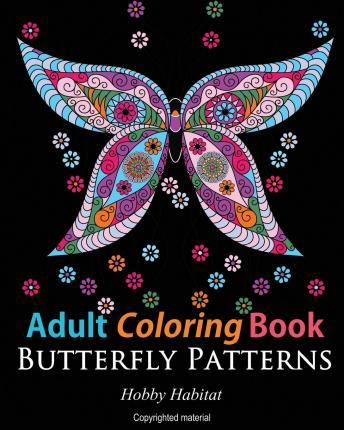 PDF Online Adult Coloring Books : Butterfly Zentangle ...