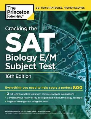 Cracking The Sat Biology Em Subject Test Princeton Review