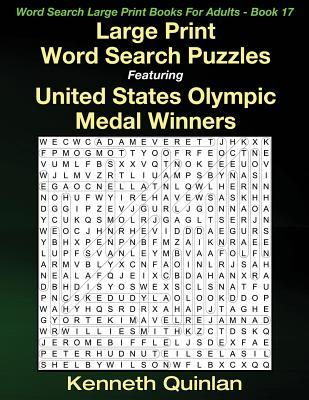 Large Print Word Search Puzzles Featuring United States Olympic Medal Winners
