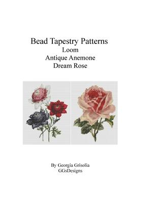 Bead Tapestry Patterns Loom Antique anemone dream rose