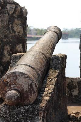 Cannon at Castillo de San Felipe Fort in Guatemala Journal  150 Page Lined Notebook/Diary