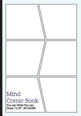 """Mind Comic Book - 6 Panel ,7""""x10"""", 80 Pages,make Your Own Comic Books"""