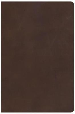 KJV Super Giant Print Reference Bible, Brown Genuine Leather