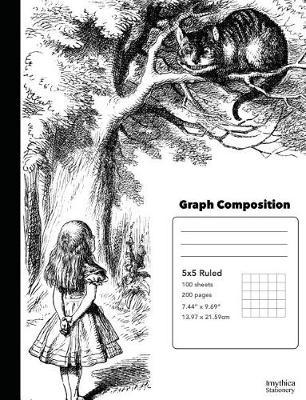 Alice in Wonderland Meets the Cheshire Cat Graph Composition Book