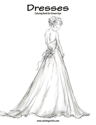 Dresses Coloring Book for Grown-Ups 1