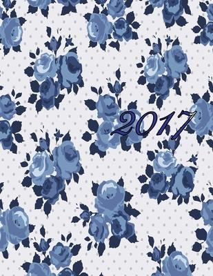 Beautiful Blue Flowers Bloom With Me 2017 Monthly Planner