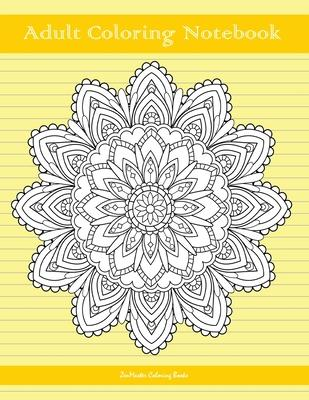 Adult Coloring Notebook, Yellow