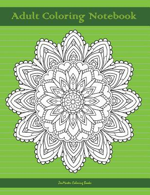 Adult Coloring Notebook, Green
