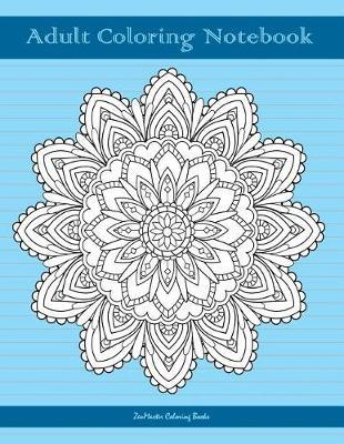 Adult Coloring Notebook, Blue