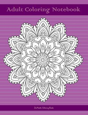 Adult Coloring Notebook, Purple