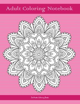 Adult Coloring Notebook, Pink