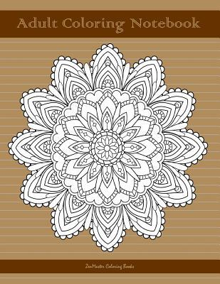 Adult Coloring Notebook, Brown