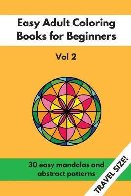Travel Size Easy Adult Coloring Books for Beginners