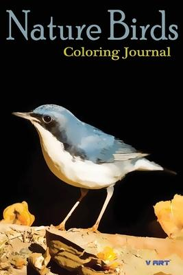 Nature Birds Coloring Journal