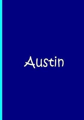 Austin - Blue Personalized Notebook / Journal / Quality Soft Matte Cover