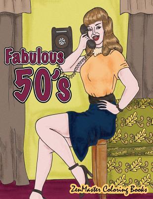 Fabulous 50's Adult Coloring Book