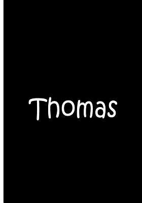 Thomas - Black Notebook / Journal / Extended Lined Pages / Soft Matte Cover