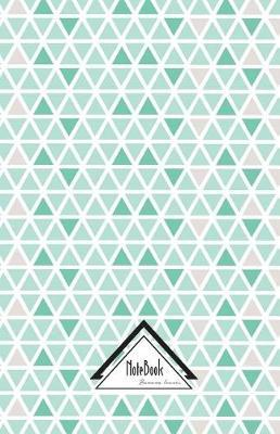 Geometric Triangle Pearl Pastel Green Tile Journal