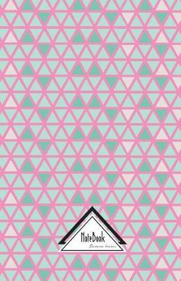 Geometric Triangle Pastel Green Pink Line Tile Journal